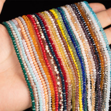 3mm 140pcs High Quality Round Faceted Glass Crystal Beads-Spacer Beads Bulk Accessories Beads For Bracelet Jewelry Making DIY