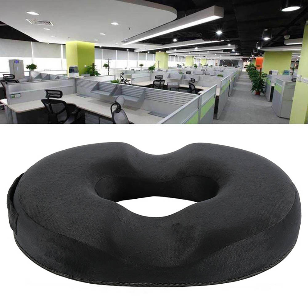Memory Cotton Donut Seat Cushion Home Spinning Ring Donuts Memory Foam Seat Car Seat Cushion Back Support Memory Pad