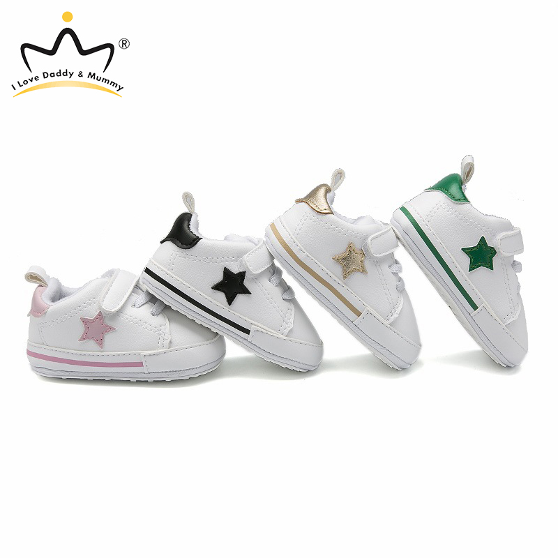 New Baby Shoes Star Print Soft Cotton Baby Boy Girl Shoes Newborn Non-slip Toddler Shoes Boys Girls First Walkers