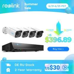 Reolink RLK8-800B4 4K Sicherheit Kamera System 8ch PoE Video Recorder 4 stücke 8MP PoE Kameras 24/7 Aufnahme für Smart home Security