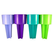 2Pcs Beach Sand Cup Seat Holder Multifunctional Plastic Coaster Drink Cups Stand SLC88(China)