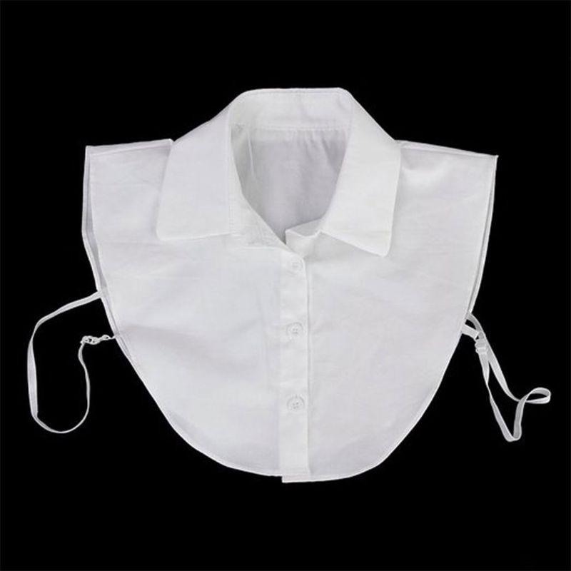 Gleader Women's Detachable Half Shirt Blouse Collar White 40JF
