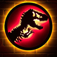 Animal Lamp Dinosaur 3D LED Wall Lamp Creative Children Night Light Bedroom Bdeside Lampara for Home Decor with Remote Control