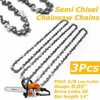 3x Chainsaw Semi Chisel Chains 3/8LP 0.05 For Stihl MS170 MS171 MS180 MS181 Electric Saw