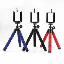 Fleksibel Spons Gurita Tripod untuk iPhone Bluetooth Remote Shutter Mini Bracket Meja Meja Tripod Ponsel Pemegang Stand(China)