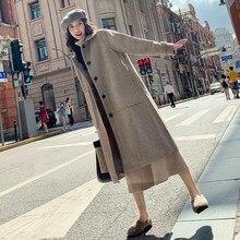 2019 Winter Loose long Coat women Temperamental Elegant Overknee manteau femme hiver casaco feminino jas Overcoat
