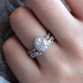 Sterling Silver Fashionable Ring Jewelry Diamond Jewelry