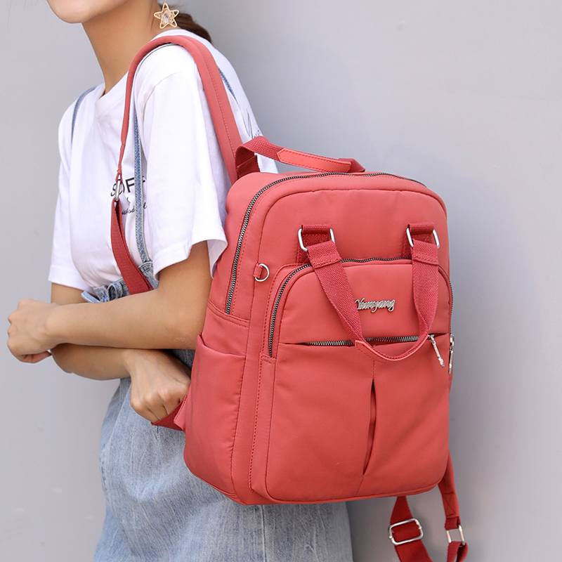 2020 VIP Fashion Multi-pocket Ladies Backpacks Large Capacity Women Backpacks Famous Brand Solid School Bag For Teeanger Girls 1