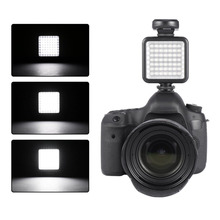 High Quality Long Life 5.5W 800lm 6000K Mini Portable 49 LED Video Light Lamp Photographic Photo Lighting for Camera Photography
