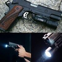 Arma militar led airsoft gun luz 500 lumens constante/momentâneo 20mm picatinny weaver ferroviário tático pistola lanterna Luzes de armas Esporte e Lazer -