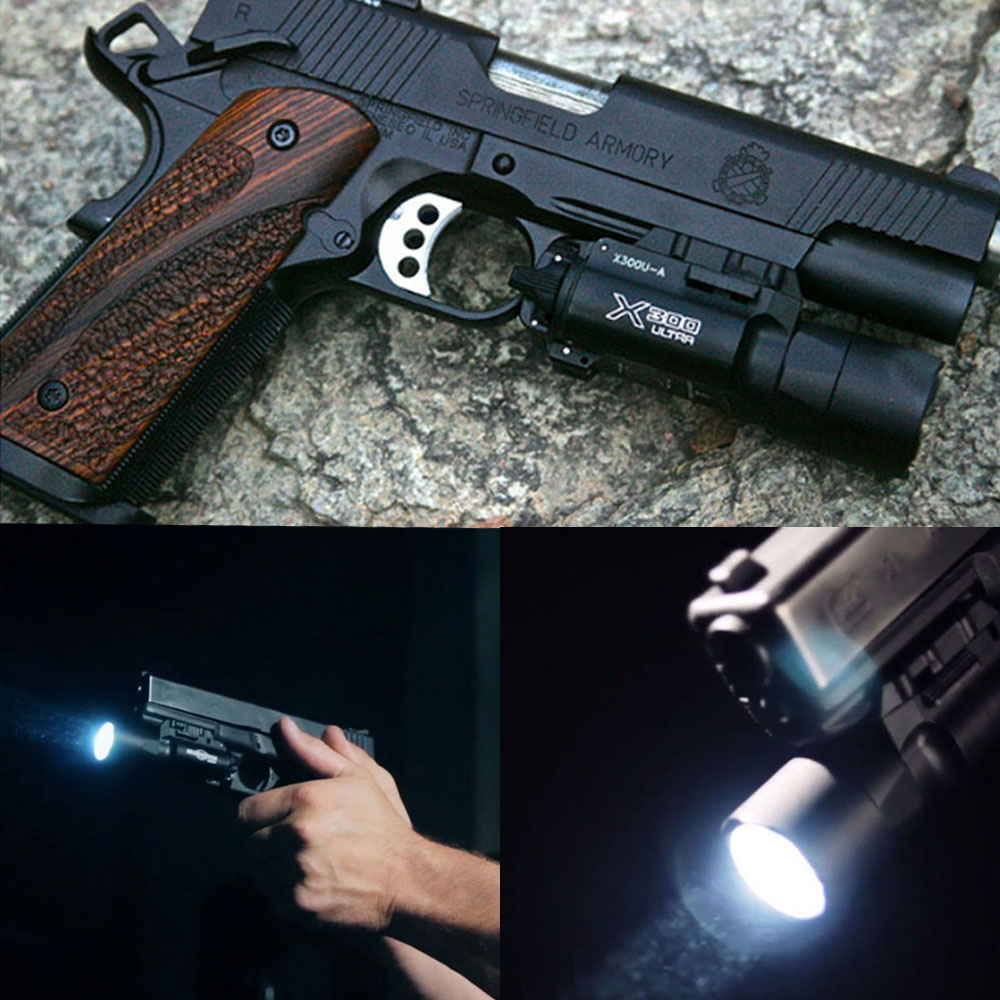 Military Weapon LED Airsoft Gun Light 500 Lumens Constant/ Momentary 20mm Picatinny Weaver Rail Tactical Pistol Flashlight