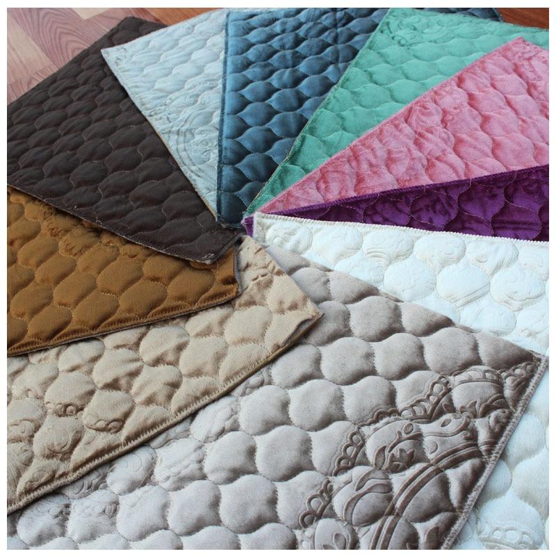 Largeur 280cm italie velours épaississement antidérapant pur Quilting broderie tissu Semi-fini canapé coussin matériel couture tissu
