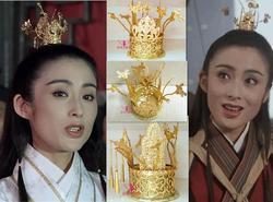 Oro Dei Capelli del Diadema per Cinese Antico Principe Unisessuali Zhaomin Capelli Testiera per la TV Gioco Celeste Spada del Drago Che Uccide Sciabola