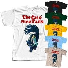 O gato o nove caudas il gatto um código nove v3 camiseta (preto) todos os tamanhos S-5XL
