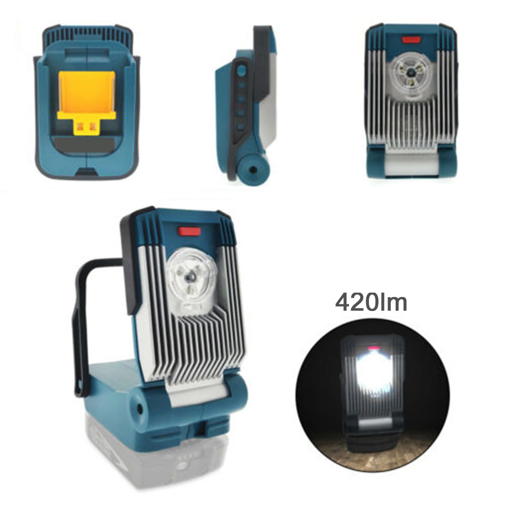 14.4V/18V Li-ion Portable LED Work Light Flashlight 450lm Site Light With Alarm Function 2019