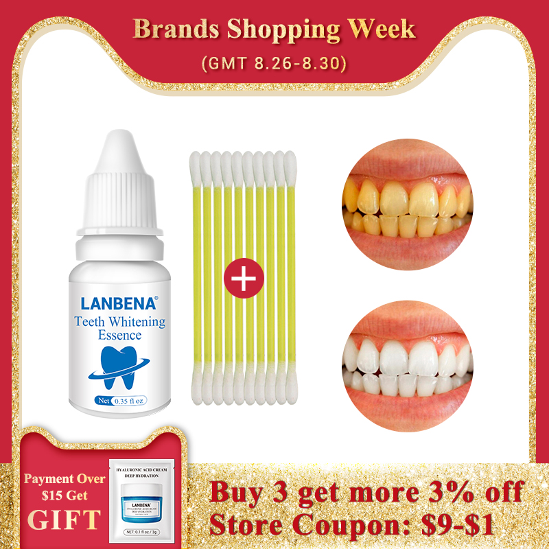 LANBENA Toothpaste Essence-Powder Removes Cleaning-Serum Dental-Tools Stains Teeth Whitening