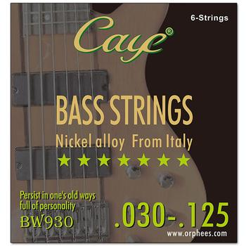 CAYE BW Series 4/5/6 Pcs Bass Strings Hexagonal Steel Core Wire Bass Strings Stringed Instrument Replacement Accessories orphee nano coating electric bass strings for 4 5 6 strings bass hexagonal core 100