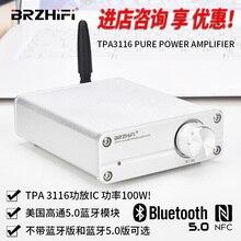 BRZHIFI AUDIO مضخم صوت صغير TPA3116 2.0 class D ، بلوتوث 5.0 ، خرج طاقة 50 واط * 2