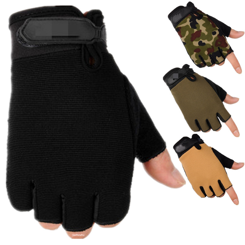 Camouflage Fingerless Tactical Gloves Military Army Bicycle Motorcycle Mittens Cycling Anti-Slip Fingerless Gloves Men Women