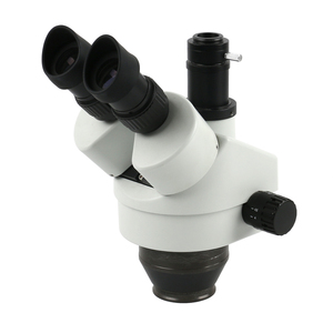 Image 4 - 산업용 스테레오 trinocular 현미경 7x 45x 연속 줌 배율 56 led 링 라이트 pcb 납땜 전화 수리