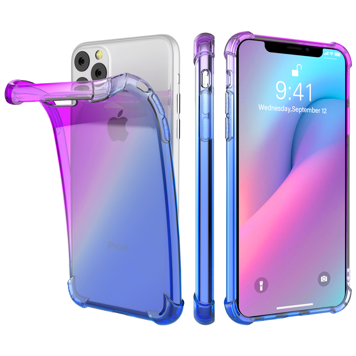 Gradient Soft TPU Case for iPhone 11/11 Pro/11 Pro Max 15
