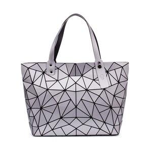 Image 5 - Sac à main géométrique pour femmes, sac à épaule uni, fourre tout, sacoche pliable pour dames, décontracté