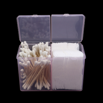 Cotton Pad Storage Box Clear Cotton Swab Organizer Holder Jewelry Case Container Transparent Remover Paper Makeup Desktop Tool