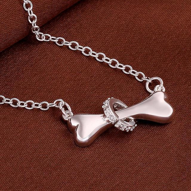 Dog bone Pendant Necklace 2