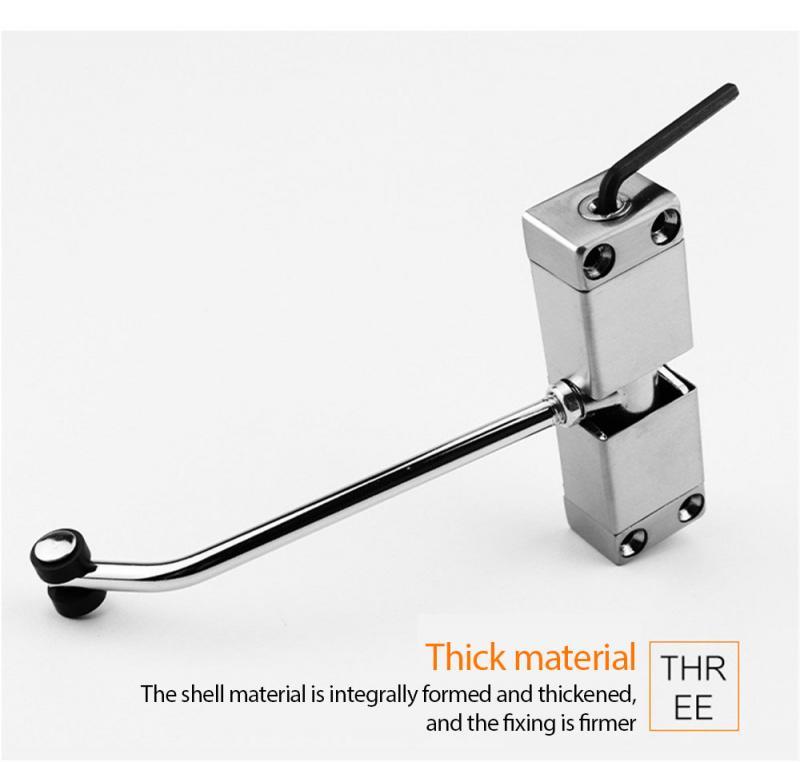 Chiudiporta automatico a tensione regolabile in acciaio inox silenzioso automatico a molla chiudiporta facile installazione per porte di medie dimensioni commerciali o domestici per hotel luoghi
