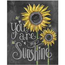 5D DIY round diamond painting cartoon sunflower flower embroidery cross stitch mosaic home decoration gift