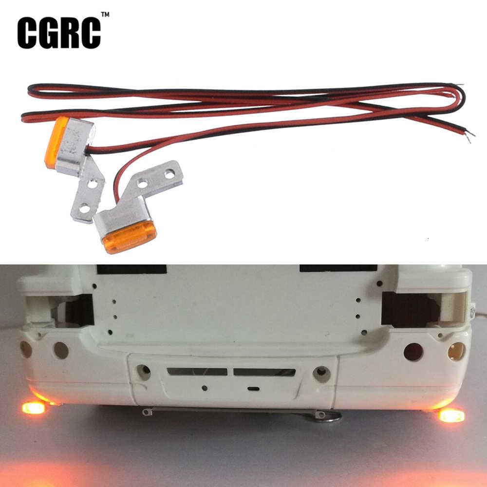 Bawah Kontur Lampu Lebar Lampu LED untuk 1/14 Tamiya RC Truck 3363 56348 56352 Actros Scania R620 56323 R730 DIY bagian