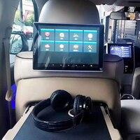 11.8 polegada carro led travesseiro encosto de cabeça monitor android 9.0 os back seat multimídia player destacável tela de toque 1920*1080 4 k 1080 p