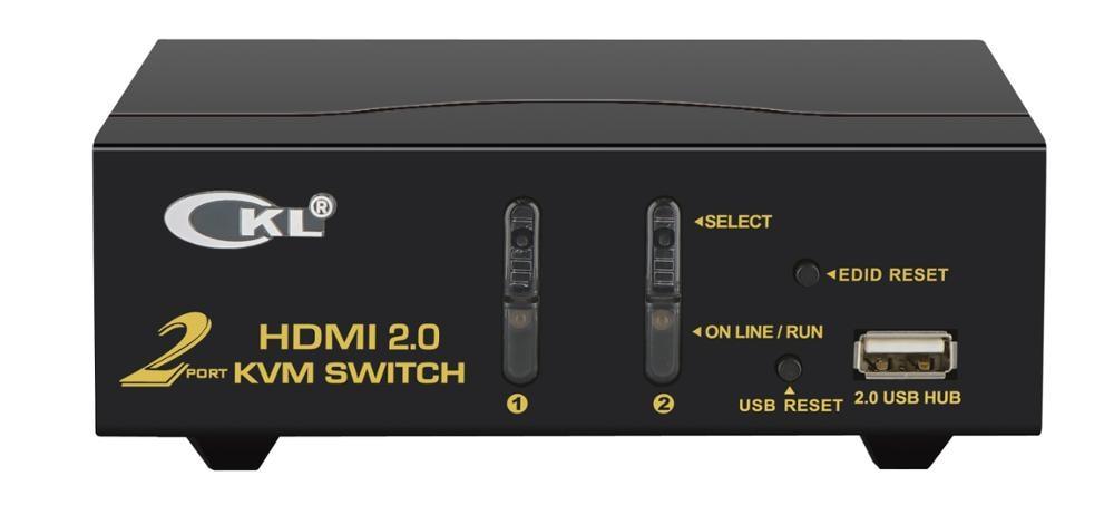 HDMI KVM Switch 2 Port  4Kx2K@60Hz,  3D, YUV 4:4:4  PC Monitor Keyboard Mouse Switcher For Computer Laptop DVR NVR Xbox PS3 PS4