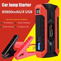 89800mAh 4USB 12V 600A LED démarreur de saut de voiture Portable chargeur de secours batterie externe voiture Booster dispositif de démarrage étanche