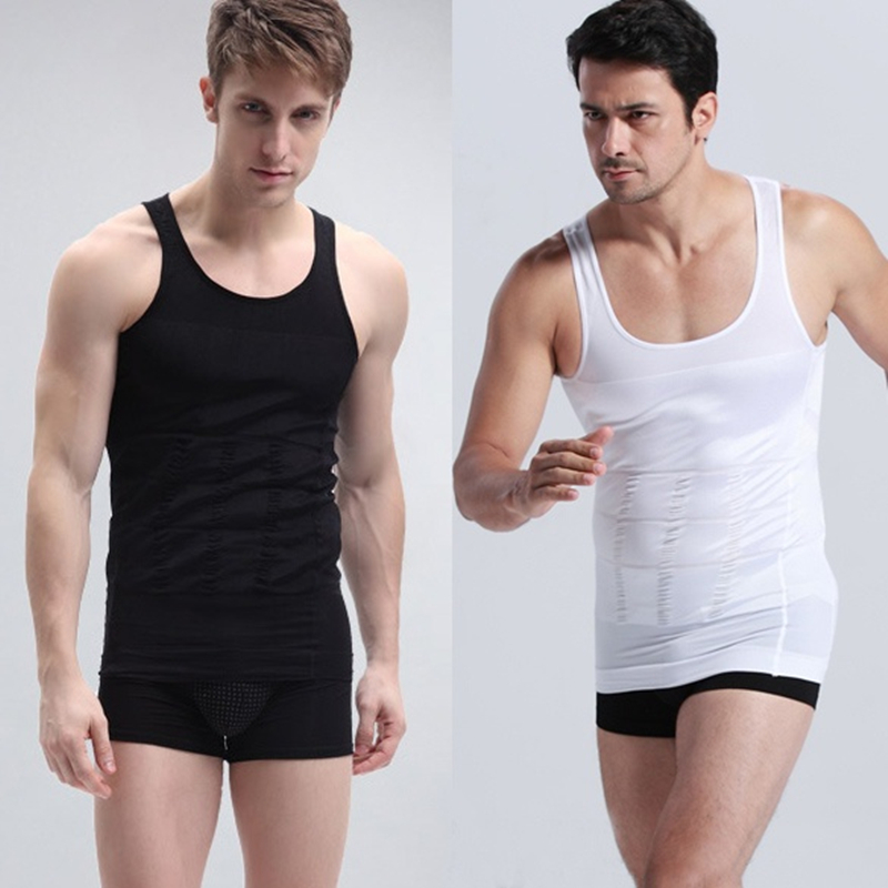 Men's Slimming Vest Shirt Slim Body Tummy Belly Fatty Vest  Corset Shape Wear Underwear