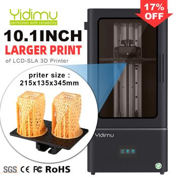 Yidimu Falcon Pro duża żywiczna drukarka 3D 10 1 #8222 LCD Drucker matryca UV 3D maszyna SLA LCD Impresora tanie i dobre opinie CN (pochodzenie) 4 5-9 5 s layer 0 1-1mm English 405nm photosensitive resin CHITU 85um 110-220 V Windows 7 8 10 64bit