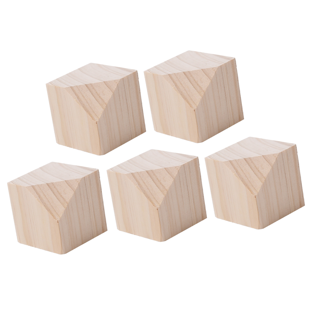 5Pcs Lot Unpainted Wooden Ring Bracelet Jewelry Display Holder Stand Art Craft 5 X 5cm