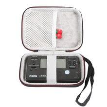 נשיאה ניידת נסיעות אחסון מקרה תיק אופניים מגן Pounch תיבת עבור Korg TM 60 מכשירי טיונר שחור (רק מקרה)