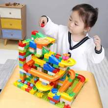 54-176 PCS Compatible LegoINGly Block Duploed Blocks Funnel Slide Bricks Marble Race Run DIY Building for kids