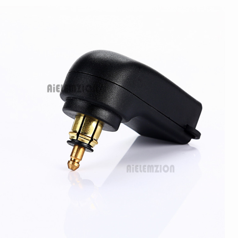 New 12-24V 4.8A Motorcycle Dual USB Charger Power for <font><b>BMW</b></font> Hella <font><b>DIN</b></font> Plug <font><b>DIN</b></font> Hella Powerlet Plug to Dual USB Charger Adapter image