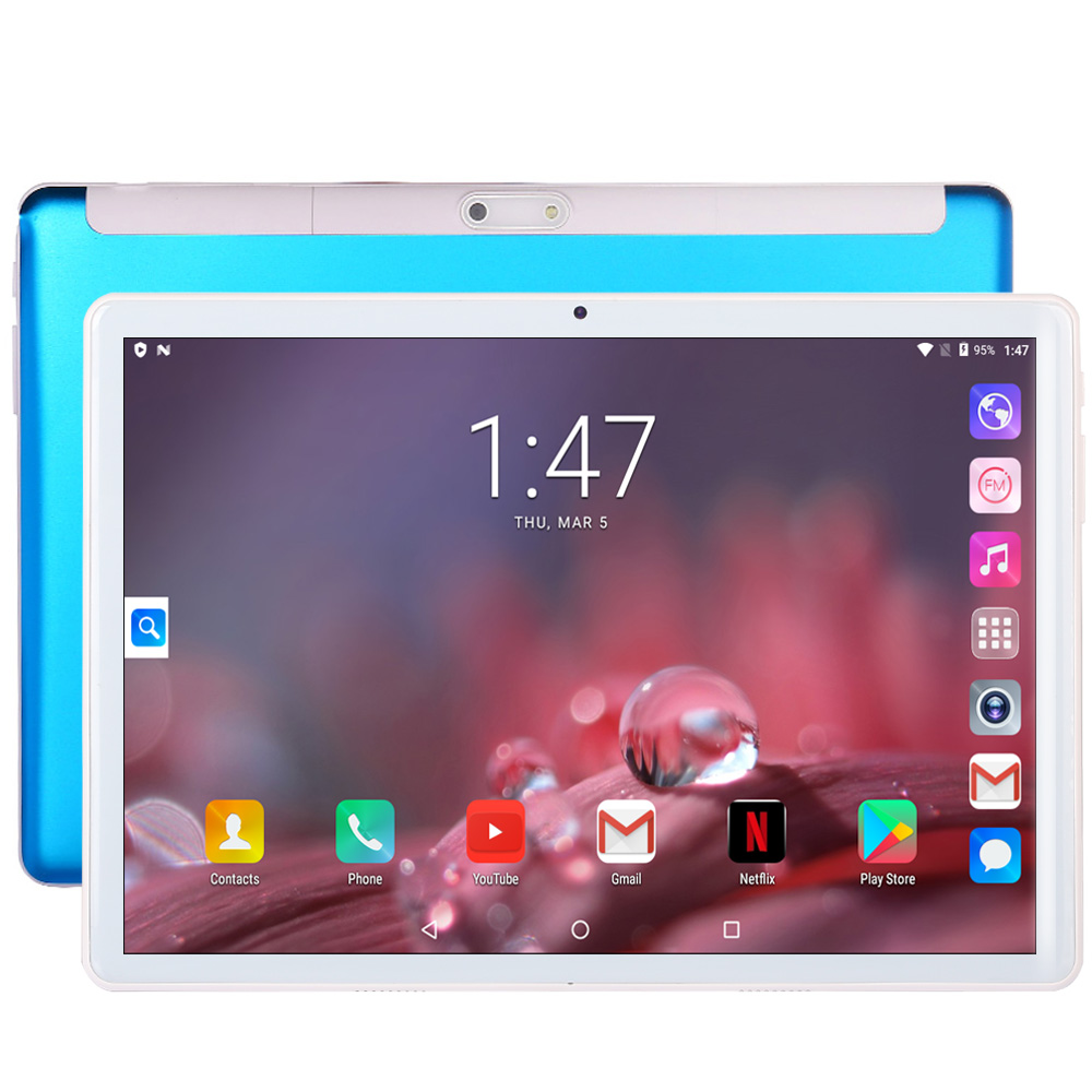 New Tablet Pc 10.1 Inch Android 7.0 Google Play 3G Phone Call Tablets WiFi Bluetooth GPS 2.5D Tempered Glass 10 Inch Tablet