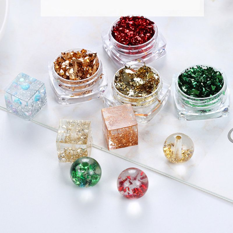 12 Color Gold Silver Foil Paper Sequins Resin Mold Fillings Resin Jewelry Making 517F