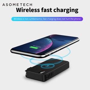 "Image 2 - 10000mah QC3.0 פ""ד מהיר מטען כוח בנק מטען אלחוטי עבור Iphone סמסונג Tablet סוג C USB 3 ב 1 18650 Powerbank Poverbank"