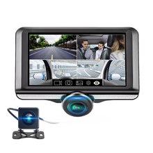 360 FHD 1080P Night Vision Anti-glare Touch Car DVR Auto Cycle Recording Parking Monitor Built in Microphone with Rear Camera(China)