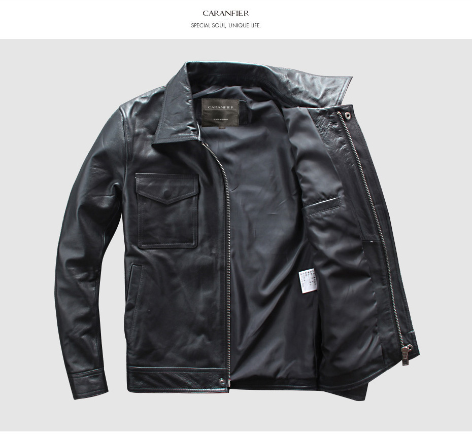 H2cf10bf46b9048c0a8171f26958fd1f4v CARANFIER DHL Free Shipping Mens 100% Cowhide Genuine Leather Jacket High quality old retro motorcycle leather jacket 3XL