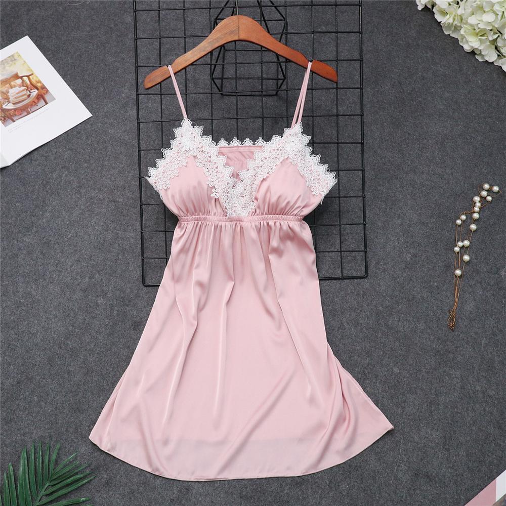 Женские пижамы, 5 шт., атласная пижама, шелковая Домашняя одежда, домашняя одежда, вышивка, Пижама для сна, для отдыха, пижама с нагрудными накладками - Цвет: pink C