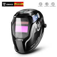 Deko laranja fogo solar escurecimento automático mig mma máscara de soldagem elétrica capacete lente para máquina de solda ou cortador plasma