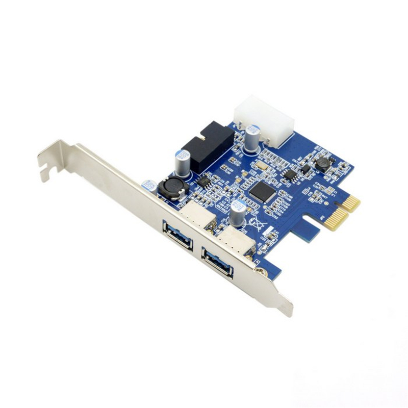 <font><b>PCI</b></font> <font><b>Express</b></font> <font><b>PCI</b></font>-E USB 3.0 Card 2 Ports Expresscard Mini <font><b>USB3</b></font> Gigabit Card Adapter for Desktop Computer 5Gbps Super Speed image