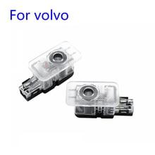 2 pièces pour VOLVO XC60 XC90 S80 S60 S80L S60L V60 V40 2012-2019 voiture Led porte bienvenue lumière Laser fantôme ombre projecteur Logo lumière