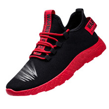 Running Shoes For Men Lace-up Running Sneakers Breathable Me